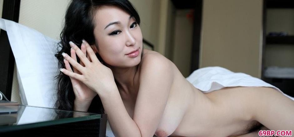 白色床单裸模苏蕾2